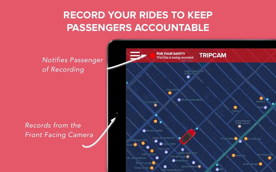 TripCam Tips & Ads 4 Uber/Lyft- screenshot