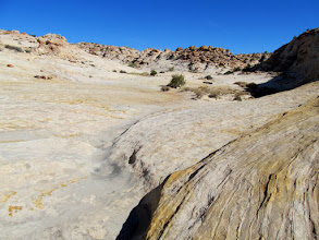 Photo: Sea of sandstone in a small Reef canyon