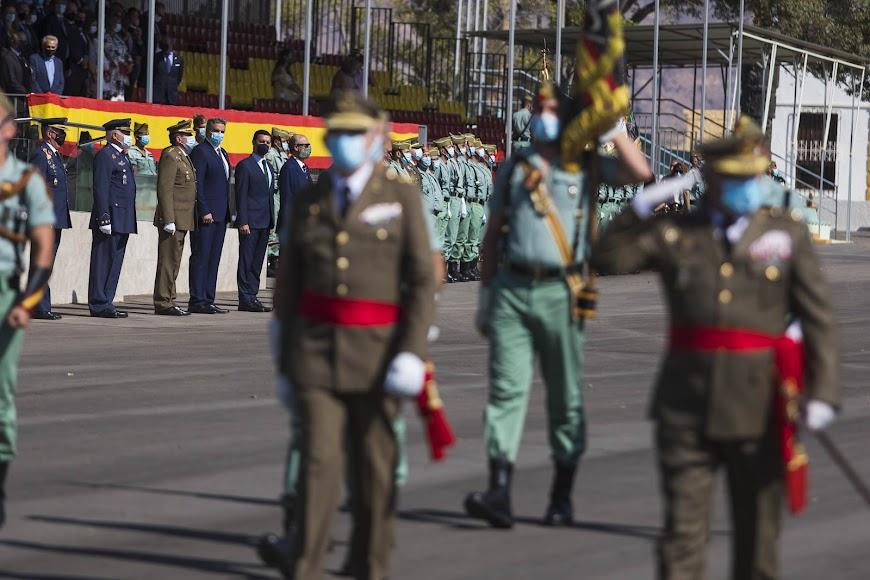 Imagen de la parada militar por los 101 años desde el aislamiento del primer legionario.