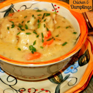 Slow Cooked Chicken and Dumplings.