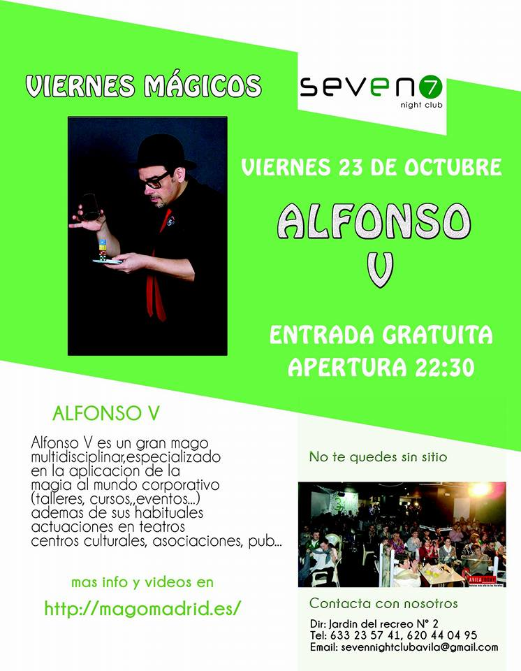 Alfonso-V-en-Seven-Club-Ávla-2015-cartel-magia
