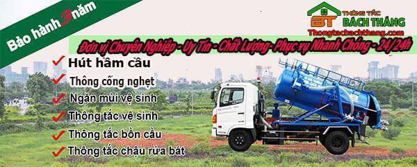 Dịch vụ thông bồn cầu tại xã Thạnh An BT online