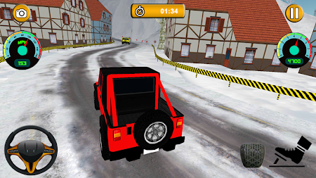 Offroad Jeep - Extreme Mountain Snow Driving APK screenshot thumbnail 3