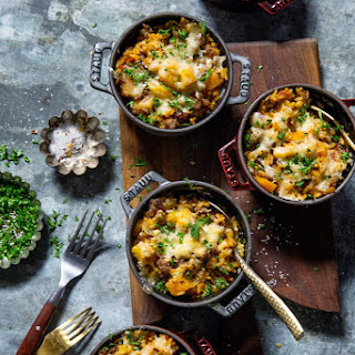 Butternut Squash and Sausage Rice Casserole.