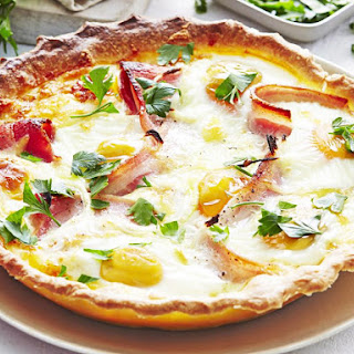 Country Egg and Bacon Pie.