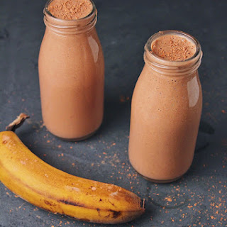 Vegan Chocolate Peanut Butter Banana Smoothie Recipe