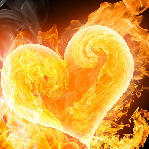 燃烧的心壁纸 個人化 App LOGO-硬是要APP