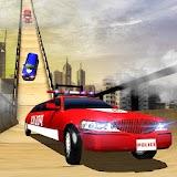Us police Luxury Limo Taxi chase Mega Ramp stunts