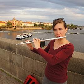 Flautist by Luboš Zámiš - People Musicians & Entertainers