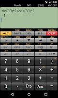 Screenshot of Panecal Scientific Calculator