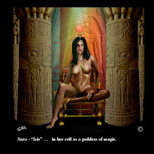 """Photo: Sara - """"Isis."""" - in her roll as a goddess of magic."""