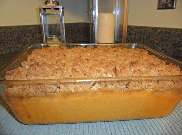 Sweet Potato Casserole With A Hint Of Orange Flavor