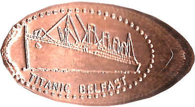 Photo: Titanic penny from Belfas
