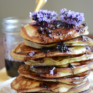 Huckleberry Lavender Paleo Pancakes