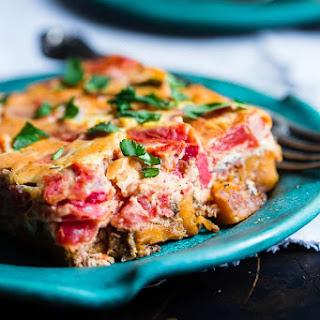 Moroccan Healthy Gluten Free Paleo Breakfast Casserole.