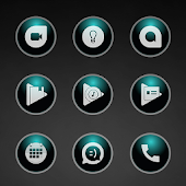 Glossy Teal Icons