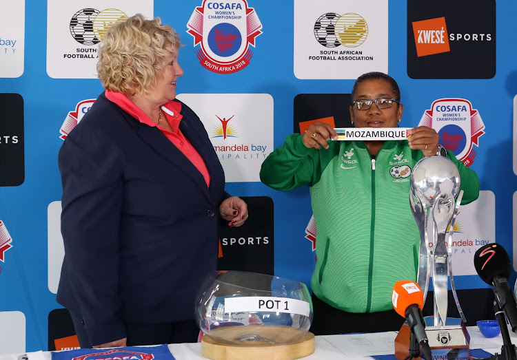 Banyana Banyana coach Desiree Ellis during the 2018 Cosafa Womens Cup draw at the Cosafa House in Johannesburg on August 29 2018.
