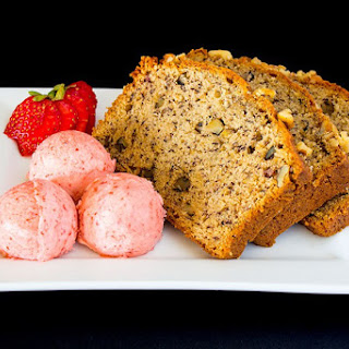 Banana Bread with Strawberry Butter