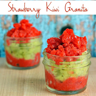 Skinny Strawberry Kiwi Granita
