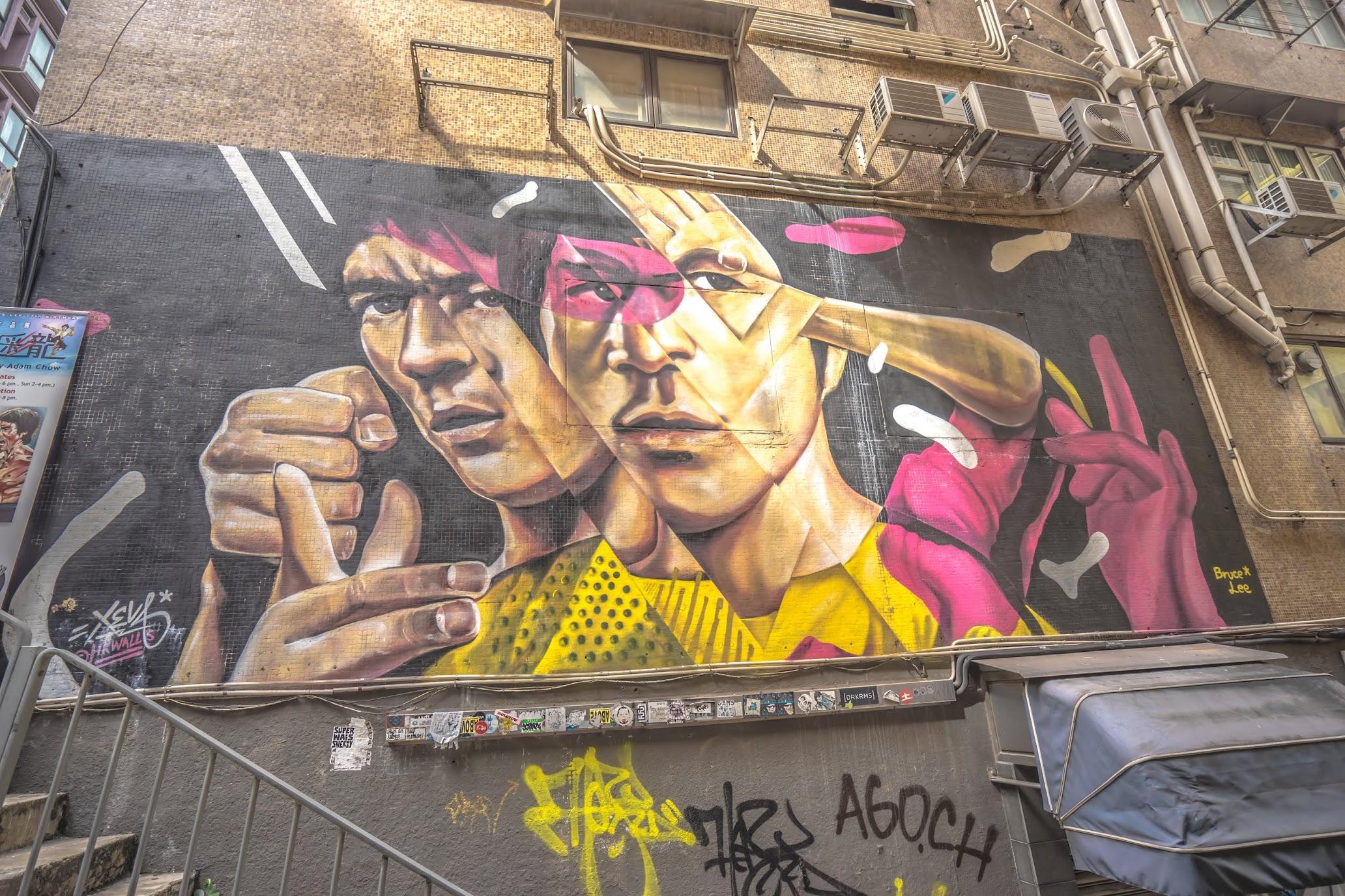 Hong Kong street art bruce lee