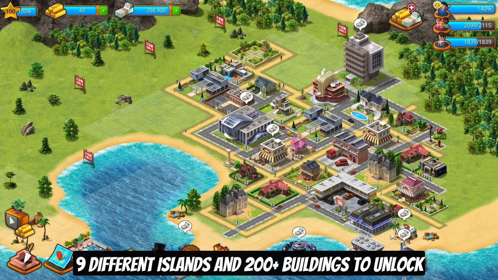 Paradise City Island Sim Town: Build it on the Bay- screenshot