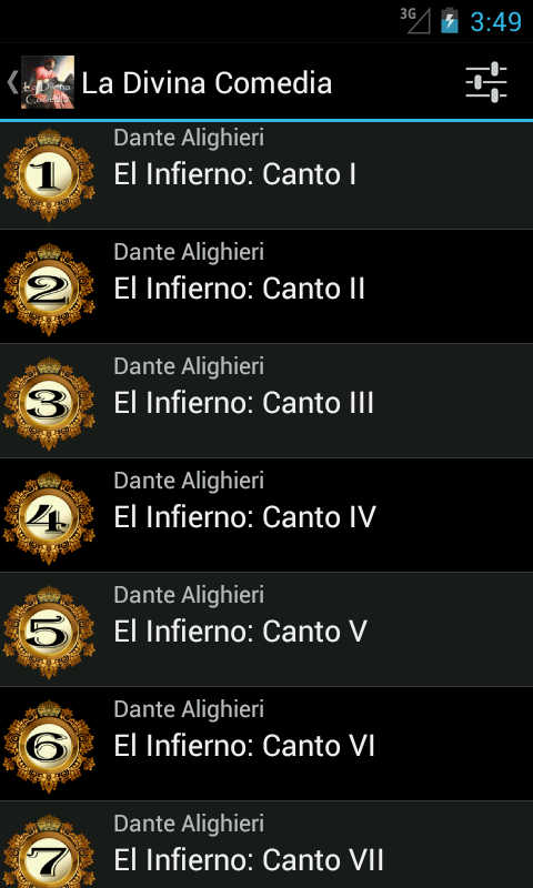 La Divina Comedia - Dante A. - screenshot