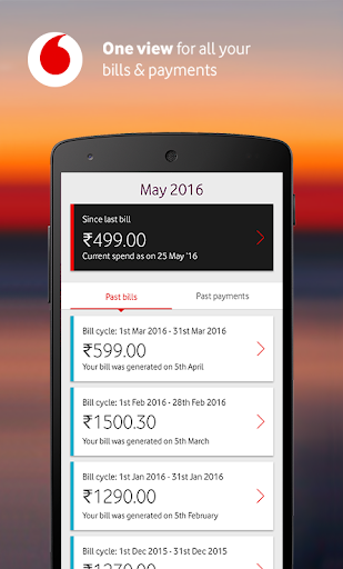 MyVodafone (India) - Recharge, Pay Bills & more.  screenshots 4