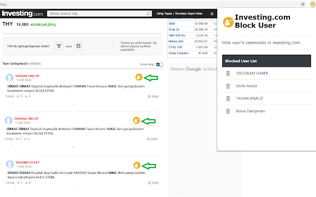 Investing.com - Block User