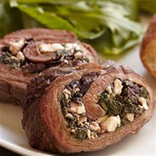 Greek Stuffed Bison Steak.