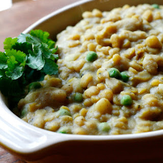 Coconut Curry Lentils and Potatoes.