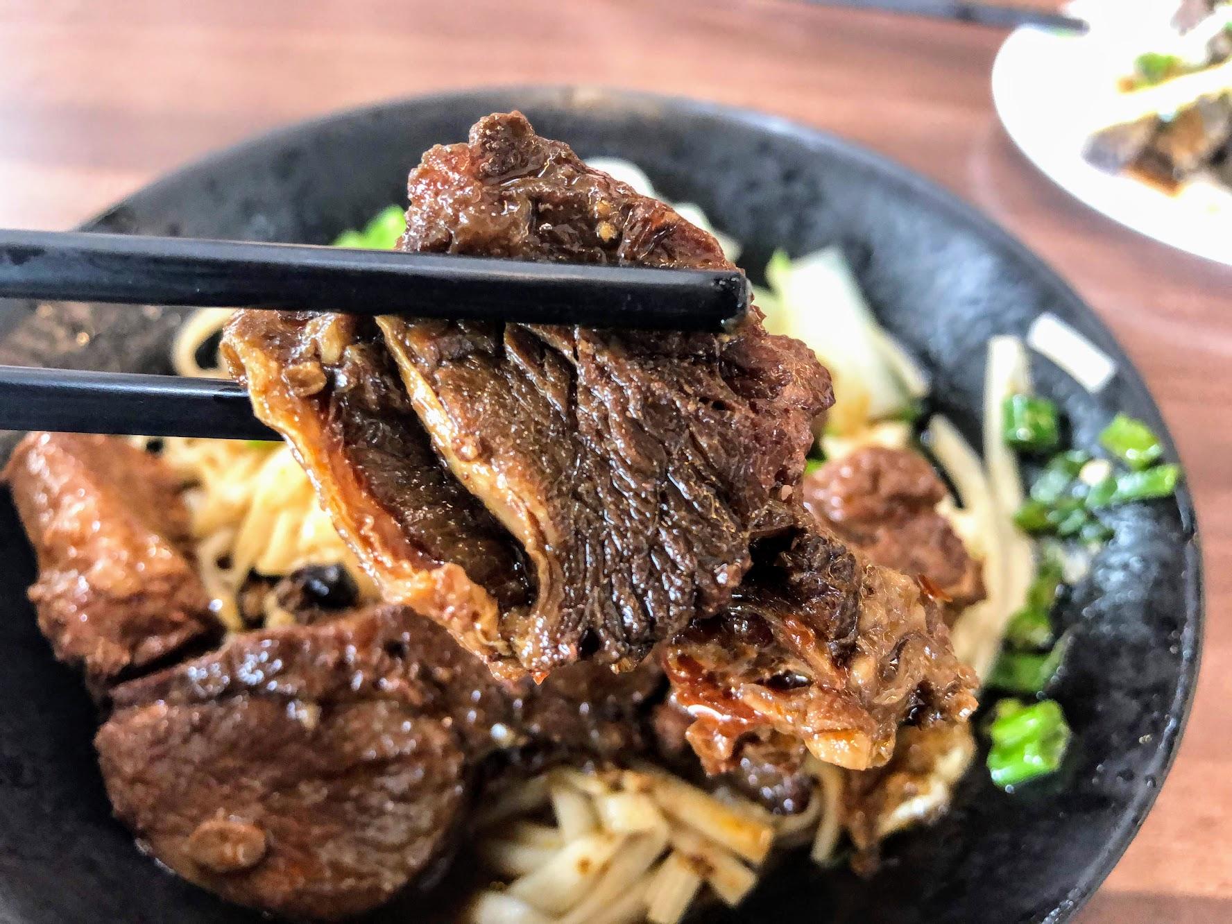 牛肉滷過原本就有鹹味了,肉質有彈性...