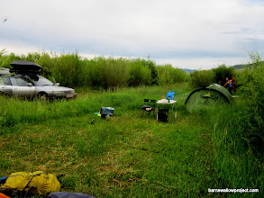 Photo: The alien landing zone where we camped one night (we could not explain why the grass was cut in this small area...as if just for us)