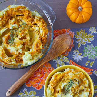 Pumpkin Swirl Mashed Potatoes