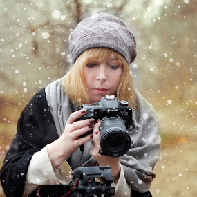 Josie by Dragana Trajkovic - People Portraits of Women ( canon, nature, serbia, belgrade, woman, snow, photographer,  )