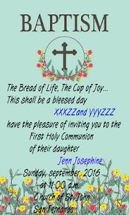Baptism invitation maker apps on google play screenshot image stopboris Gallery