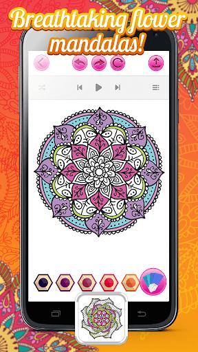Magic Garden Coloring Book With Mandala Flowers