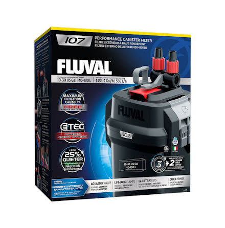 Fluval 107 550l/h 10W Ytterfilter