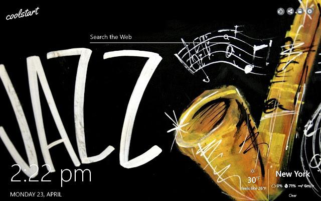 Jazz HD Wallpapers Music New Tab Theme