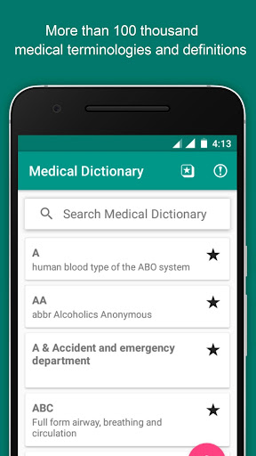 Medical Dictionary Free Offline Terms & Definition screenshot for Android