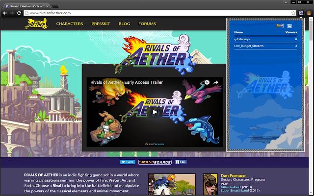 RoA Stream Browser