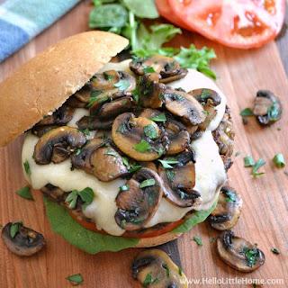 Mushroom Swiss Veggie Burgers.