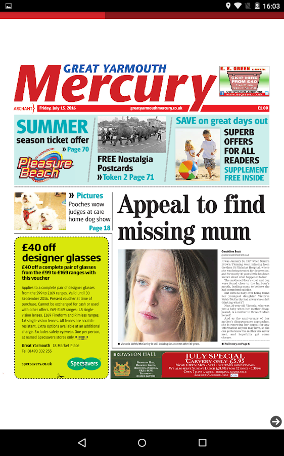 Great Yarmouth Mercury- screenshot