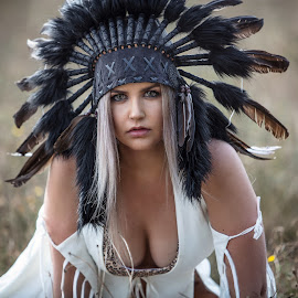 Aggression  by Chris O'Brien - People Portraits of Women ( girl, location, headdress, woman, beautiful, beauty )