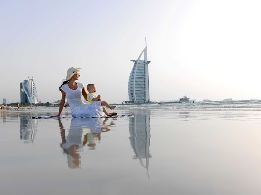 Enjoy some beach time with your family in beautiful Dubai.