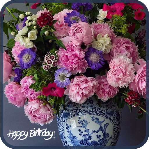Happy Birthday Flowers Cards for Facebook   Apps on Google Play