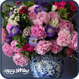 Happy Birthday Flowers Cards for Facebook icon