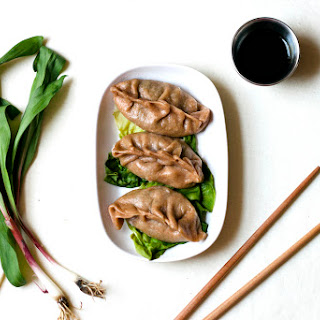 WHOLE WHEAT DUMPLINGS WITH RAMPS, EGG, & BOK CHOY