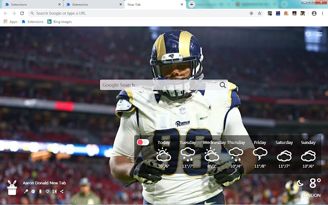 Aaron Donald New Tab, Wallpapers HD