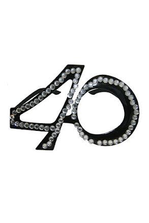 Glasögon 40, svarta