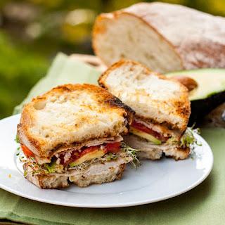 Turkey and Avocado Sandwich.